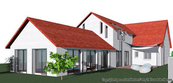 agence d'architecture fanny b. particuliers - maisons à piscine ... - Construction Maison Avec Piscine Interieure